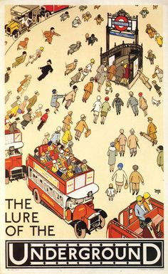 The Lure of the Underground by Alfred Leete, from 1927. #London