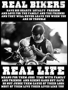 That's why I don't like the show Sons of Anarchy because it made bikers look bad! Of course that way of life is real for some bikers, but too bad