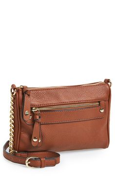 BP Double Stud Crossbody Bag on ShopStyle Leather Crossbody, Leather Handbags, Leather Bag, Crossbody Bag, Brown Handbags, Vegan Handbags, Leather Craft, Mk Purse, Purse Wallet