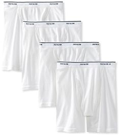 Fruit of the Loom Mens 4Pack White Boxer Briefs 100 Cotton Underwear 3XLarge * Visit the image link more details. Note:It is affiliate link to Amazon.