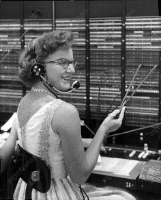 Mom was a switchboard operator in the late thru the Vintage Phones, Vintage Telephone, Bell Canada, May I Help You, Vintage Style, Vintage Fashion, My First Job, Vintage Office, Working People