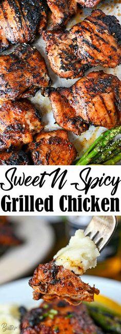 Sweet N Spicy, Sweet And Spicy Chicken, Chicken Thigh Recipes Oven, Baked Chicken Recipes, Oven Chicken, Boneless Chicken Recipes Easy, Spicy Chicken Marinades, Cooking Chicken Thighs, Cracker Chicken