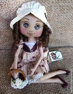 Куколка названа так потому, что цветочки на платье, корсет, туфельки и розочки в корзинке - ежевичного цвета.…