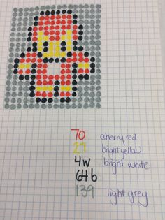 8 bit Avengers...using graph paper to chart it out...brilliant