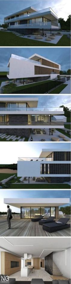 Awesome Modern House Design for Your Dream House » Engineering Basic Architecture Design, Beautiful Architecture, Residential Architecture, Contemporary Architecture, Villa Design, Modern House Design, Modern Exterior, Exterior Design, Interior Modern