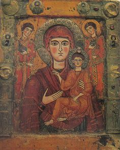 cent icon from Georgia. One of the Oldest Images of the Madonna and child Jesus. Religious Images, Religious Icons, Religious Art, Madonna Und Kind, Madonna And Child, Virgin Mary Art, Blessed Virgin Mary, Images Of Mary, Old Images