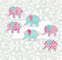 SVG Elephant  for  Silhouette or other craft cutters (.svg/.dxf/.eps)