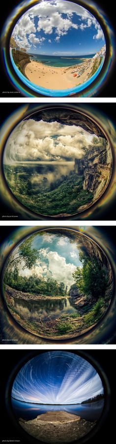 Landscapes- Landscapes through a fish eye lens look so interesting, would definitely like to try this.