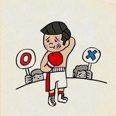 判定 #ボクシング #イラスト