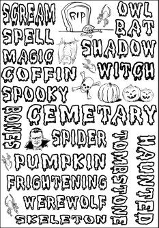 Find a wide range of free Halloween printable activities and lesson ideas.  Link to fun Halloween facts, page borders, scary poems, printable decorations and coloring pages.