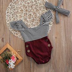 US Newborn Toddler Baby Girl Clothes Romper Bodysuit+Headband Sunsuit Outfit Set | Clothing, Shoes & Accessories, Baby & Toddler Clothing, Girls' Clothing (Newborn-5T) | eBay!