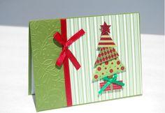 Handmade Christmas Card Glitter Tree FREE by TheHumbleShop on Etsy