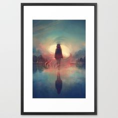breathe Framed Art Print by Loish | Society6