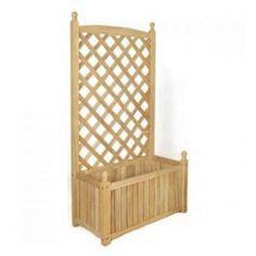 DMC 70510 Lexington Rectangle Solid Wood Trellis Planter