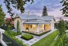 4 bedroom, 3 bathroom house in 42 Palmerston Road, Unley SA 5061 sold on View listing details on Domain Dream House Exterior, Dream House Plans, Roof Colors, House Colors, House Front, My House, Hamptons Style Homes, Queenslander, Facade House
