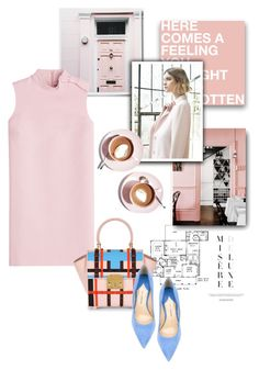 """""""Let's Meet for Coffee"""" by youaresofashion ❤ liked on Polyvore featuring Paul Andrew, Nuevo, Martha Stewart, RED Valentino, women's clothing, women, female, woman, misses and juniors"""