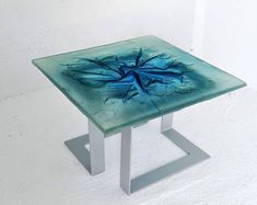 Glass Art Coffee Table by Archiglass Glass Table, Fused Glass, Glass Art, How To Apply, Contemporary, Pattern, Minimalist, Base, Steel