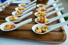 shrimp in appetizer spoons - Google Search