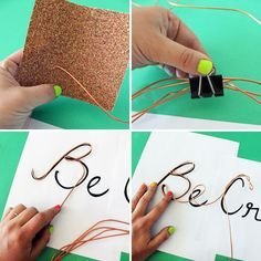 How to Create Wire Word Wall Art | Brit + Co.