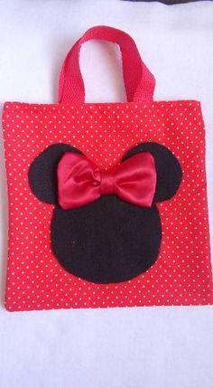 Sacolas,mochilas,sacos,mickey E Minnie 10 Unidades - R$ 65,00