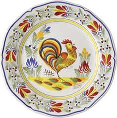 Old days faience Rooster nbr 1
