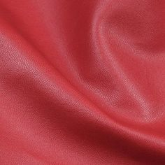 """54"""" Wide Faux Soft Skin Leather Red Fabric By The yard"""