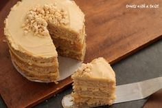 Cashew Cake with Lemon Curd - Treats With a Twist 6 Cake, Pastry Brushes, Unsweetened Almond Milk, Lemon Curd, Baking Pans, Yummy Cakes, Treats, Vegan Buttercream, Cupcakes