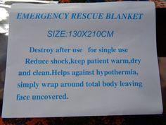 emergency rescue blanket alumniumn foli wrap size: 130 cm X 210cm #Unbranded
