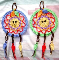 Magical Dream Catcher Frisbee  - free pattern