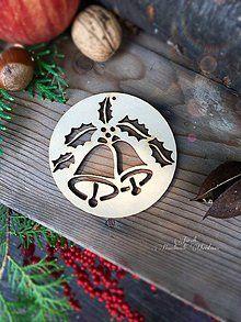 Dekorácie - Vianočný výrez Zvonček (A7) - 7135281_
