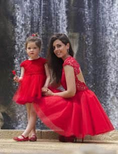 Flower girl dress,red flower girl dress,princess flower girl