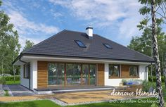 Projekt domu Zacisze IV 107.48 m² - Domowe Klimaty Gazebo, Sweet Home, New Homes, Outdoor Structures, Outdoor Decor, House, Home Decor, Log Projects, Home Plans