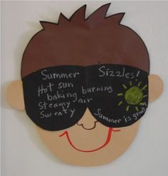 "cute idea for spring break or summer writing. - classroom door idea for end of the year.""my future's so bright i gotta wear shades"" End Of School Year, Summer School, School Fun, Art School, School Stuff, School Items, End Of Year Activities, Writing Activities, Summer Activities"