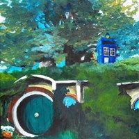 This would have made the journey to Erebor and/or Mount Doom much, much simpler (The Hobbit/LOTR meets Doctor Who)