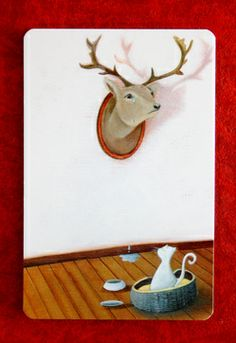 A Dixit card wall decoration