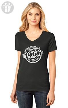 ed7d4fb30f1a 51st Birthday Gift Authentic 1966 Mint Condition Funny V-Neck Women T-Shirt  Medium