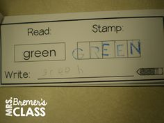 Read It! Stamp It! Write It!- literacy center booklets to practice sight words ALL YEAR long!