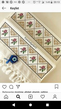 Blackwork, Floral Tie, Towel, Crochet, Womens Fashion, Cross Stitch Embroidery, Bath Linens, How To Make Crafts, Towels