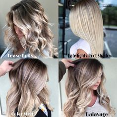 Can you see the difference? All Rooted Blondes are not the same Let's break it down Tease Foils- Looks like Balayage but you'll get… Ash Blonde Hair, Balayage Hair Blonde, Blonde Color, Ombre Hair, Reverse Balayage, Hair Color Techniques, Hair Color And Cut, Light Hair, Hair Blog
