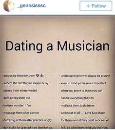 Dating a guitarist