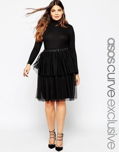 ASOS+CURVE+Mesh+Tiered+Skirt was £35 now £21