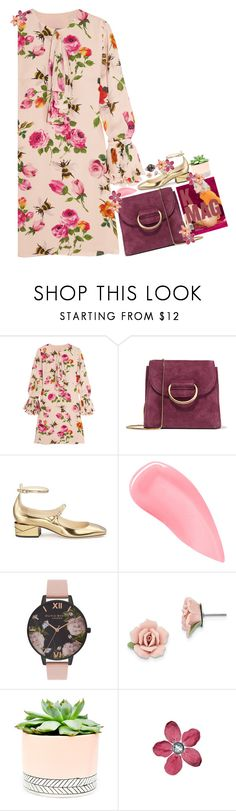 """""""///"""" by loldonutsss ❤ liked on Polyvore featuring Gucci, Little Liffner, Jimmy Choo, Kevyn Aucoin, Olivia Burton, 1928, Hostess, gucci, topitems and featureditems"""