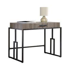 House of Hampton Alsager Writing Desk Glam Living Room, Contemporary Desk, Big Desk, Desk And Chair Set, Home Office Desks, Office Decor, Writing Desk, All Modern, Modern Furniture