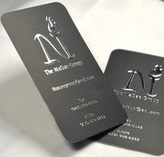 Business Card of the Day: The NaSae Group Embossed Foil Cards