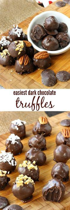 Best Gluten Free Dark Chocolate Truffles Recipe #Chocolatetruffles