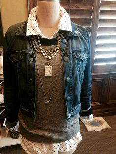 "I love this look! Jewel Kade Stillwater necklace, Cora charm, 40"" small ball chain & the Wax Seal Initials!Mindy.jewelkade.com/shop"