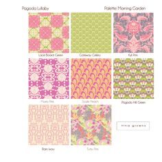 tina givens: new fabric collection: PAGODA LULLABY