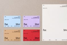 Never Now's identity for homeware store Pan After is a melting pot of clashing typography and colour — The Brand Identity Graphic Design Projects, Graphic Design Posters, Print Design, Visual Identity, Brand Identity, Personal Identity, Brochure Design, Branding Design, Design Agency