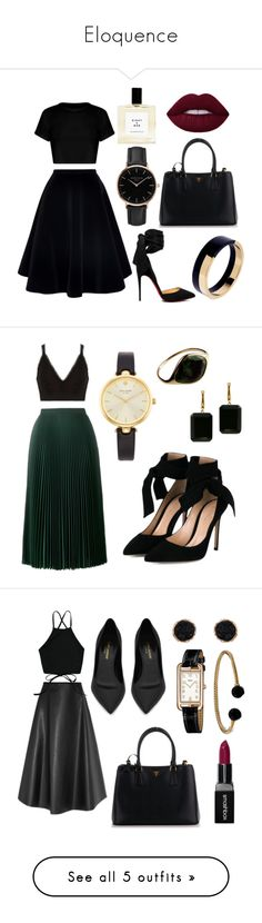 """Eloquence"" by raqibells ❤ liked on Polyvore featuring N°21, Christian Louboutin, Prada, Topshop, Marni, River Island, Gianvito Rossi, Kate Spade, Joan Hornig and Yves Saint Laurent"
