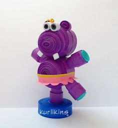 Hilda Hippo  - Yahoo.... Why have I not thought of making a purple hippo???
